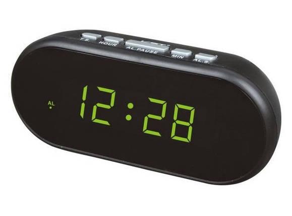 Часы от сети с подсветкой VST-712, фото 2