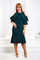 ДТ1182 Платье с рюшами в расцветках размеры 50-56