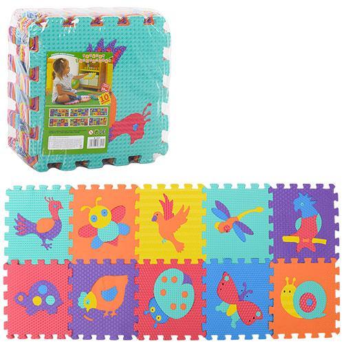 Детский массажный коврик-мозаика M 3521 Веселая мозаика животные