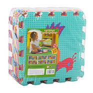 Детский массажный коврик-мозаика M 3521 Веселая мозаика животные, фото 3