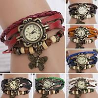 Женские наручные часы с подвеской Бабочка