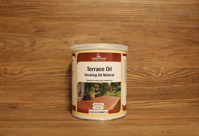 Террасное масло, Terrace oil (Danish oil), Dark Walnut (632), 1 litre, Borma Wachs - «Borma Wachs Украина» в Киеве