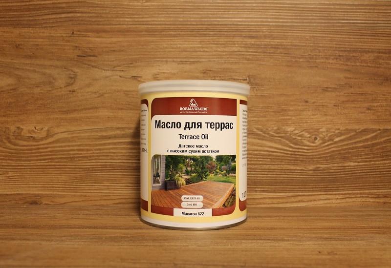 Террасное масло, Terrace oil (Danish oil), Mahagony (622), 1 litre, Borma Wachs - «Borma Wachs Украина» в Киеве
