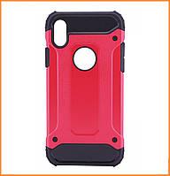 Бронированный противоударный TPU+PC чехол IMMORTAL для IPhone X / 10 Red