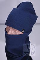 Зимний комплект шапка + бафф Adidas - Свет.Синий