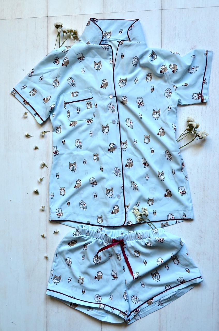 98702a0f2e3ec Женская пижама шорты рубашка, цена 255 грн., купить в Харькове ...