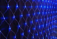 Гирлянда светодиодная Сетка 160 диодов цвет синий