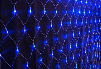 Гирлянда светодиодная Сетка 200 диодов цвет Синий, фото 2