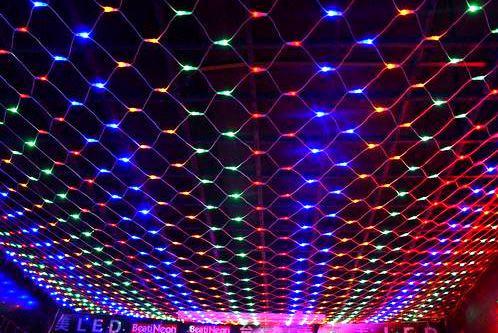 Гирлянда светодиодная Сетка 200 диодов цвет Мульти