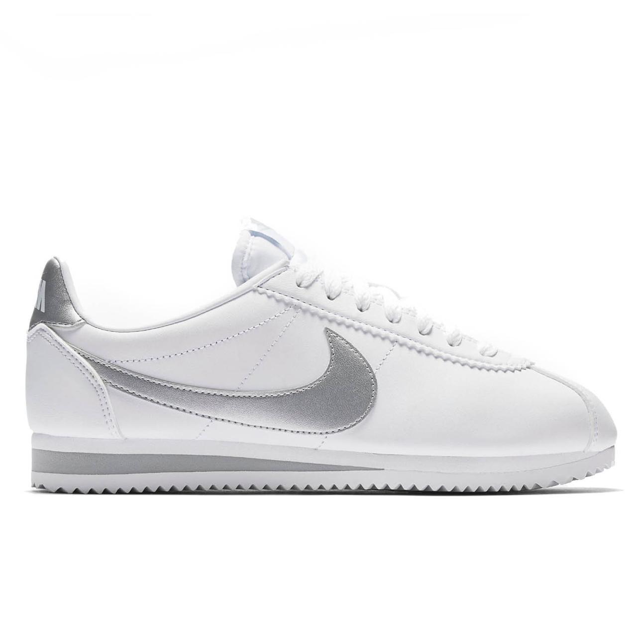 8edf5d6f Оригинальные кроссовки Nike Classic Cortez Leather White/Grey -  Sport-Sneakers - Оригинальные кроссовки