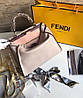 Стильная женская сумка FENDI PEEKABOO 33 см беж