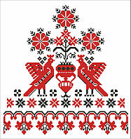"""Вафельная картинка """"Украинский стиль """" A4 (код 03138)"""