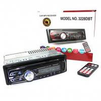 Автомагнитола 3228 DBT Bluetooth Мульти подсветка Съемная панель