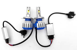 Xenon T1-H4 Turbo LED фары 6000К, фото 3