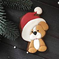 """Новогодний пряник """"Рождественский щенок"""""""