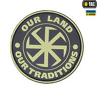M-Tac нашивка Our Land - Our Tradititions ПВХ олива