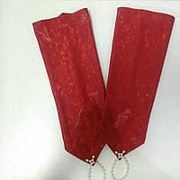 Детские перчатки красные с напылением
