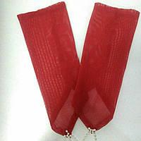 Детские перчатки красные из сеточки