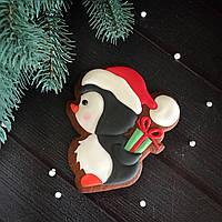 """Имбирный пряник """"Рождественский пингвин"""""""