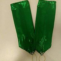 Детские перчатки зеленые с напылением