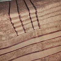 Махровое полотенце для лица 50х90 Коричневое 100% хлопок Узбекистан