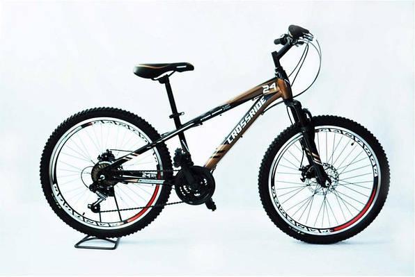 """Подростковый велосипед CROSSRIDE STORM MTB 24"""" 13"""" Серый"""