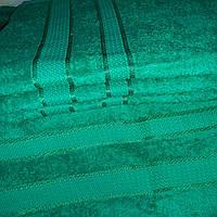 Махровое полотенце для лица 50х90 Зеленое 100% хлопок Узбекистан