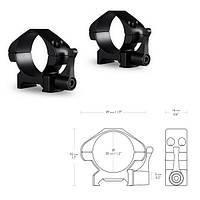 Hawke Кольца Precision Fast Release 30mm/Weaver/Low