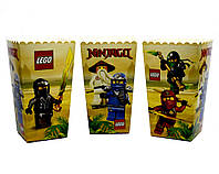 """Коробки для попкорна """"Ninjago"""". В упак: 5 штук"""