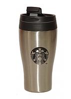 "Термокружка ""Starbucks"" (360 мл) с поилкой, металл"