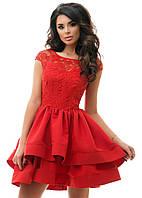 Пышное платье с атласной юбкой 44,46
