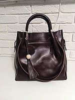 "Женская кожаная сумка ""Асия Brown"", фото 1"
