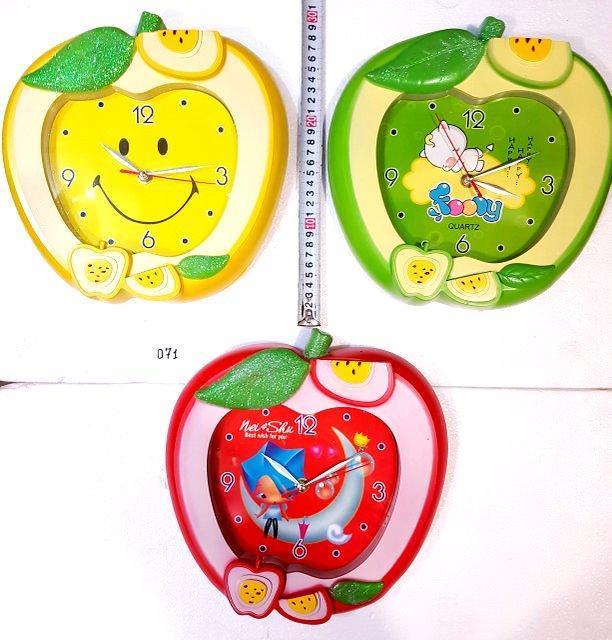 Детские настенные часы Яблочки