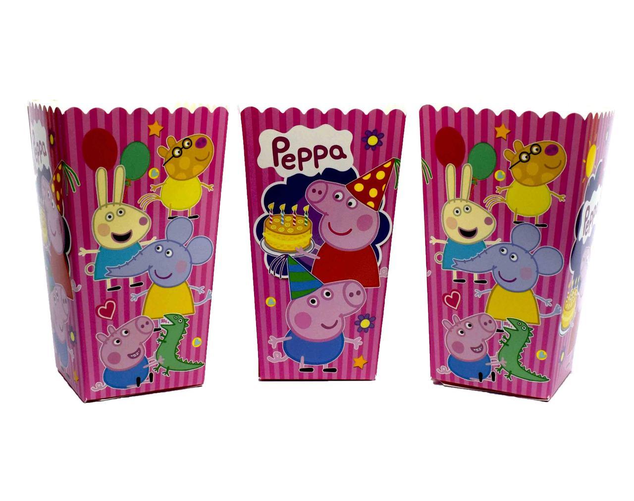 """Коробки для попкорна """"Peppa Pig"""". В упак: 5 штук"""