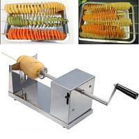 """Слайсер-Овощерезка для нарезки овощей спиралью """"Stainless Steel Potato Slicer"""""""