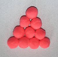 Помпоны   кораловые  733 упаковка 10 шт., фото 1