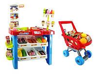 Игровой магазин детский Супермаркет с тележкой и товарами 668-22