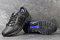 Зимние Кроссовки Adidas Equipment код 3792 черные с синим