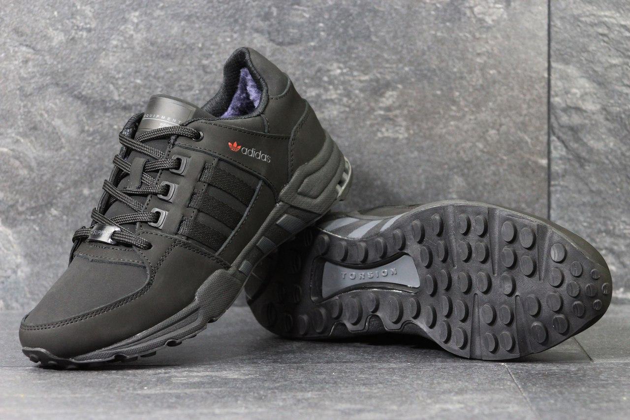 Зимние Кроссовки Adidas Equipment код 3789 черные - Интернет-магазин обуви