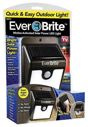 Светильник Ever Brite с датчиком движения на солнечной панели, фото 2