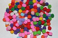 Помпоны разноцветные  код 734 упаковка 10 шт., фото 1