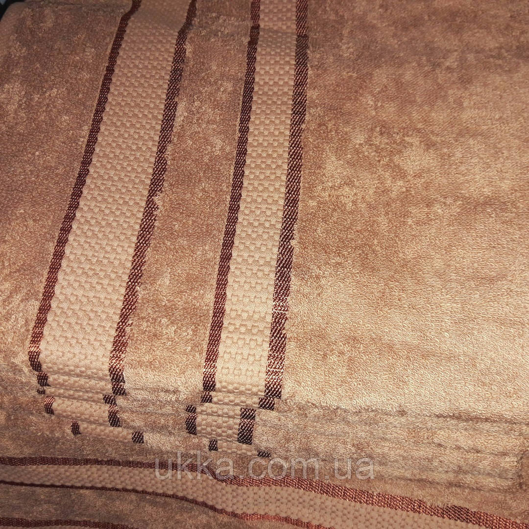 Полотенце махровое 40х70 Коричневое для кухни 100% хлопок Узбекистан