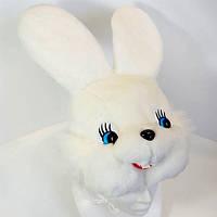 """Шапка маска """"Зайка"""" с большими глазками"""