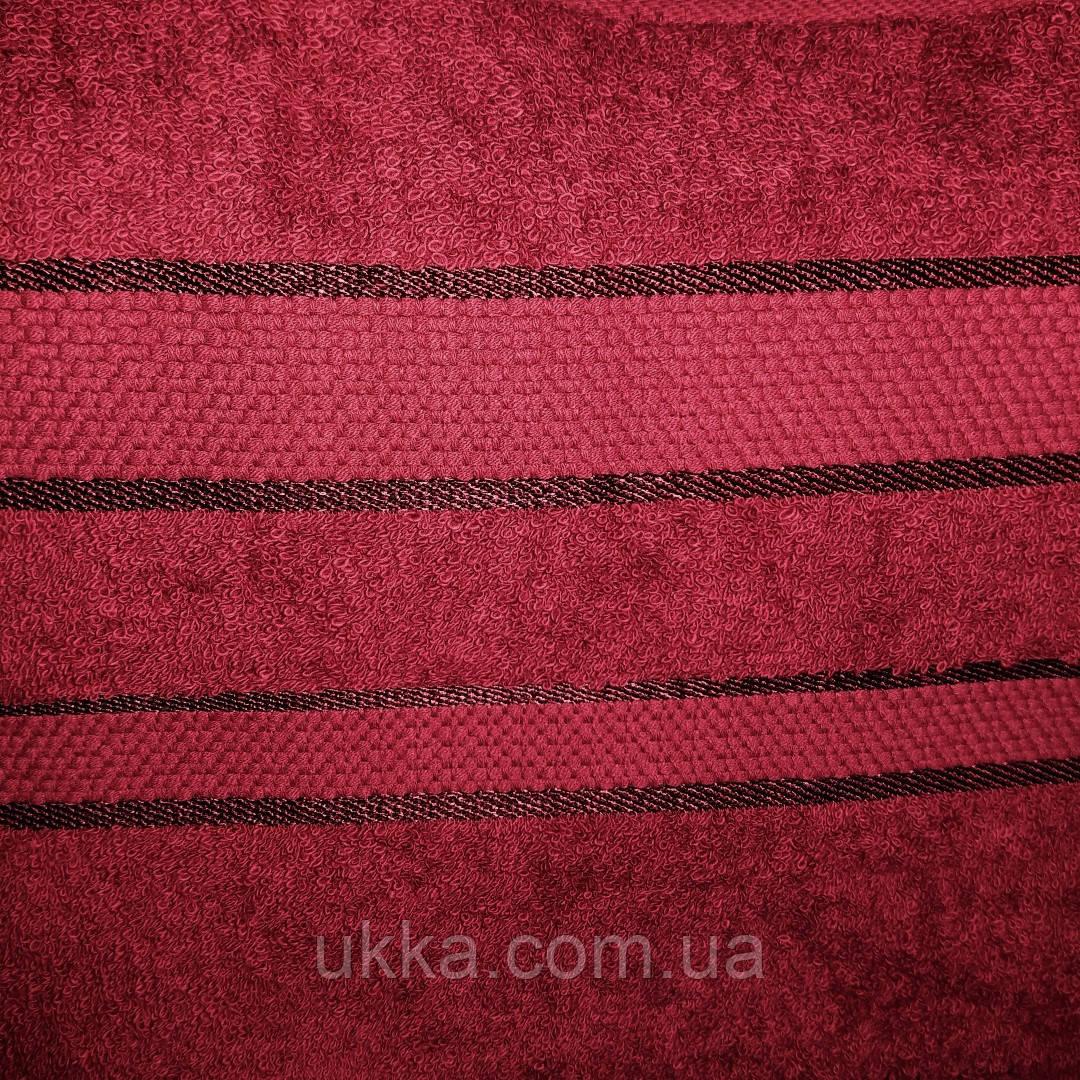 Полотенце махровое 40х70 Бордо для рук 100% хлопок Узбекистан