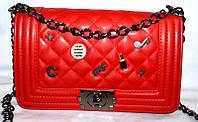 Женская сумка/клатч Chanel BOY, Шанель (красный), 015-2