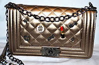 Женская сумка/клатч Chanel BOY, Шанель (золото), 015-1