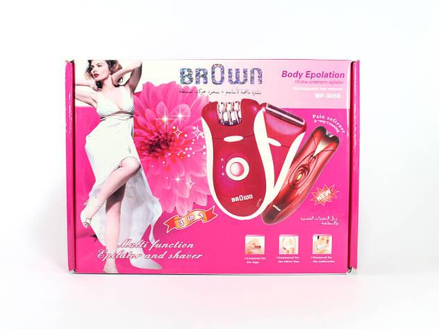 Эпилятор-бритва BROWN модель MP-3058, 3 in 1 – устройство для удаления нежелательных волос, фото 2