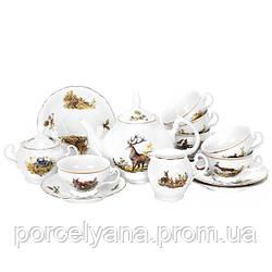 Фарфоровый чайный сервиз 15прBernadotte ( Охота )