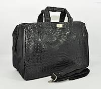 Дорожная сумка, саквояж Refiand 88721 A черный кроко