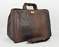 Дорожная сумка, саквояж Refiand 88721 AА коричневый кроко, фото 1
